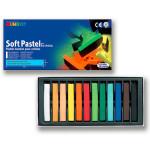 Boîte de 12 pastels secs carrés