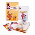 Cocottes en Origami Mathématiques 20 pcs
