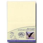Vergé de France - 25 cartes doubles 14,8 x 21 cm - ivoire