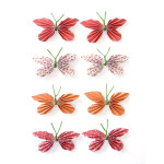 Stickers 3D papillon rouge par 8
