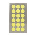 Gommettes rondes jaune fluo 15 mm