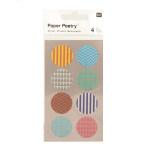 Stickers en papier Washi ronds à motifs x 4 planches