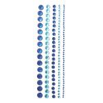 Strass bleus sur bande adhésive
