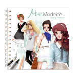 Carnet de coloriage Miss Modeline Cahier Fashion Printemps