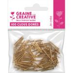 Clous dorés 20 mm x 100 pièces