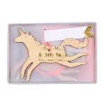 Étiquettes à cadeaux Thème Licorne - 8 pcs