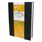 Livre à croquis format portrait couverture noire 140g/m² - 14,8 x 21 cm (A5)