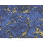 Papier Italien 50 x 70 cm 85 g/m² Marbré bleu et or