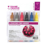 Crayon pour bougie 6 x 30 ml