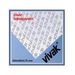 Plaque de plastique transparent 50 x 40 cm ep. 0,75 mm