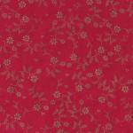 Papier Lokta Imprimé 50 x 75 cm Rouge motif Sybille or