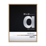 Cadre en aluminium Alpha plaqué bois teinte chêne - 29,7 x 42 cm