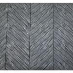 Papier Lokta 50 x 70 cm 150 g/m² Rayures contemporaines Noires sur Gris