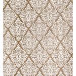 Papier Indien 50 x 70 cm 100 g/m² Kraft fini main motif baroque blanc