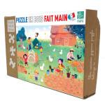 Puzzle en bois Famille Potiron 50 pièces