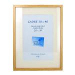 Cadre en MDF Carla chêne + passe-partout - 40 x 40 cm