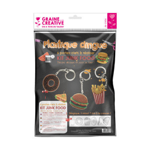 Kit plastique dingue portes-clefs junk food