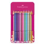 Crayon de couleur Sparkle Boîté métal 12 crayons
