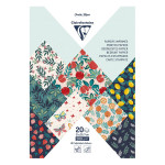 Bloc de papier imprimé Jardin fruité A4 20 feuilles