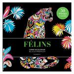 Carnet de coloriage Black Premium Félins