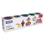 Pâte à modeler souple Glitter Soft Dough 5 pots 142 g